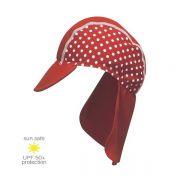 UV Sun Clothes Αντηλιακά Ρούχα Καπέλο για τον Ήλιο UPF50+ Κόκκινο/ 'Aσπρο Πουά 53cm (+5yrs)