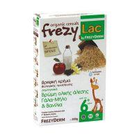 Frezylac Βιολογική Κρέμα Με Βρώµη Ολικής Άλεσης Γάλα/Μήλο/Βανίλια 6m+ 200gr