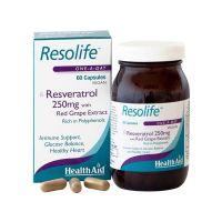 Health Aid Resolife Ρεσβερατρόλη 250mg 60 κάψουλες