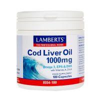 Lamberts Cod Liver Oil 1000mg 180 κάψουλες