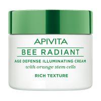 Apivita Bee Radiant Κρέμα Προσώπου Πλούσιας Υφής Αντιγήρανσης & Λάμψης Για Ξηρές Επιδερμίδες 50ml