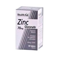 Health Aid Zinc Gluconate 70mg 90 ταμπλέτες