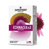 Superfoods Echinacea x 3 Εχινάτσεα 50 κάψουλες