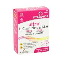 Vitabiotics Ultra L-Carnitine & ALA 60 ταμπλέτες