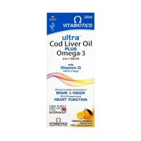 Vitabiotics Ultra Liquid Cod Liver Oil plus Omega-3 250ml