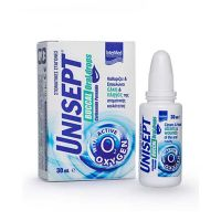 Intermed Unisept Buccal Σταγόνες Που Καθαρίζουν & Επουλώνουν Έλκη & Πληγές Της Στοματικής Κοιλότητας 30ml