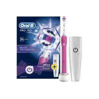 Oral-B Pro 750 Ηλεκτρική Οδοντόβουρτσα & Θήκη Ταξιδίου Ροζ