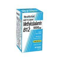 Health Aid Metcobin Methylcobalamin B12 1000mg Συμπλήρωμα Διατροφής 60 Ταμπλέτες