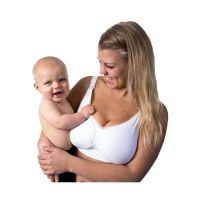 Carriwell Σουτιέν Θηλασμού Χωρίς Ραφές Με Μπανέλα Από Τζελ Λευκό L