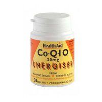 Health Aid Coenzyme Q-10 20mg Energiser 30 ταμπλέτες