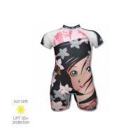UV Sun Clothes Αντηλιακά Ρούχα UPF 50+ Ολόσωμο Μαγιό Κορίτσι 9 μηνών 74-82cm