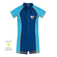 UV Sun Clothes Αντηλιακά Ρούχα UVA & UVB Ολόσωμο Μαγιό Μπλε Αγόρι 6-12 μηνών 74-80cm