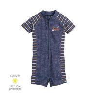 UV Sun Clothes Αντι-ηλιακά Ρούχα UVA & UVB Ολόσωμο Μαγιό Φορμάκι Τζιν Μπλε 1-2 χρονών