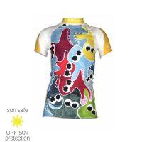 UV Sun Clothes Αντιηλιακά Ρούχα UVA & UVB Μπλούζα με κοντά μανίκια Χταπόδια 18 μηνών