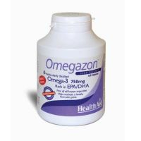 Health Aid Omegazon Omega-3 750mg Συμπυκνωμένα Ιχθυέλαια 1250mg 120 Κάψουλες