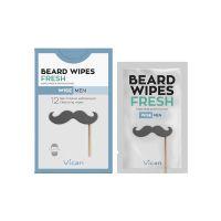 Vican Wise Men Fresh Μαντηλάκια Καθαρισμού Γενειάδας 12τμχ