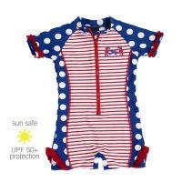 UV Sun Clothes Αντι-ηλιακά Ρούχα UVA & UVB Ολόσωμο Μαγιό Φορμάκι Ιππόκαμπος Πουά 7-8 χρονών 122-128cm