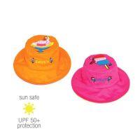 UV Sun Clothes Αντιηλιακά Ρούχα Καπέλο UPF50+ Διπλής 'Όψεως Ροζ-Παγωτό / Πορτοκαλί- Γλυκό 2-4YRS