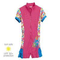 UV Sun Clothes Αντι-ηλιακά Ρούχα UVA & UVB Ολόσωμο Μαγιό Φορμάκι Ροζ Λουλούδια 5-6 χρονών 110-116cm