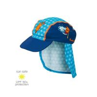 UV Sun Clothes Αντηλιακά Ρούχα Καπέλο για τον Ήλιο UPF50+ Μπλε Ποντίκι 49cm (1-1.5yrs)