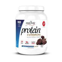 QNT Easy Body Protein Powder Ρόφημα Πρωτεΐνης Με Γεύση Belgian Chocolate 350g