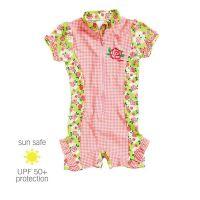 UV Sun Clothes Αντι-ηλιακά Ρούχα UVA & UVB Ολόσωμο Μαγιό Φορμάκι Τριαντάφυλλα 7-8 χρονών 122-128cm