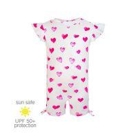 UV Sun Clothes Αντηλιακά Ρούχα Ολόσωμο Μαγιό Καρδιές 0-6 μηνών (62-68cm)