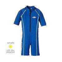 UV Sun Clothes Αντηλιακά Ρούχα UVA & UVB Ολόσωμο Μαγιό Φορμάκι με Κοντά Μανίκια Μπλε 6-7 χρονών 112-122cm