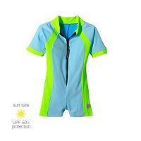 UV Sun Clothes Αντηλιακά Ρούχα UVA & UVB Ολόσωμο Μαγιό Φορμάκι Αγόρι Γαλάζιο/Πράσινο 4-5 χρονών 102-112cm