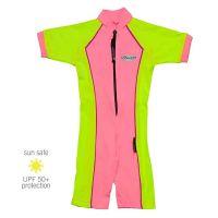 UV Sun Clothes Αντηλιακά Ρούχα UVA & UVB Ολόσωμο Μαγιό Φορμάκι Ροζ- Κίτρινο- Βιολετί 4-5 χρονών 102-112cm
