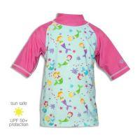 UV Sun Clothes Αντηλιακό UPF 50+ Μπλούζα με Κοντά Μανίκια Γοργόνες Κορίτσι 3 Χρονών