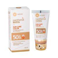 Panthenol Extra Sun Care Αντηλιακό Τζελ Προσώπου Με Χρώμα Spf50 50ml