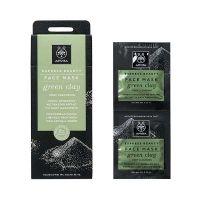 Apivita Express Beauty Μάσκα Προσώπου Για Βαθύ Καθαρισμό Με Πράσινη Άργιλο Για Λιπαρό/Μικτό Δέρμα 2*8ml
