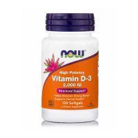 Now High Potency Vitamin D-3 2000IU 120 Softgels