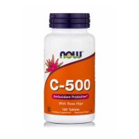 Now C-500 With Rose Hips 100 Tablets