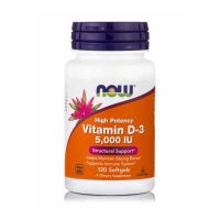 Now High Potency Vitamin D-3 5000IU 120 Softgels