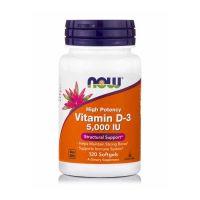 Now High Potency Vitamin D-3 5000IU 120 Softgels