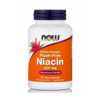 Now Double Strength Flush-Free Niacin 500mg 90 Veg Capsules