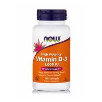 Now High Potency Vitamin D-3 1000IU 180 Softgels