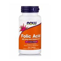 Now Folic Acid 800mcg With Vitamin B-12 250 Tablets