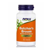 Now Butcher's Broom Standarized Extract 100 Capsules