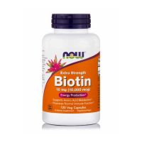 Now Extra Strength Biotin 10mg (10,000mcg) 120 Veg Capsules