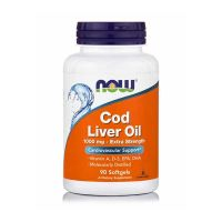 Now Cod Liver Oil 1000mg Extra Strength 90 Softgels