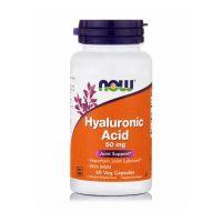 Now Hyaluronic Acid 50mg 60 Veg Capsules