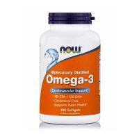Now Molecularly Distilled Omega-3 100 Softgels