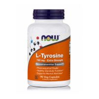 Now L-Tyrosine 750mg Extra Strength 90 Veg Capsules