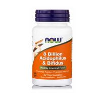 Now 8 Billion Acidophilus & Bifidus 60 Veg Capsules