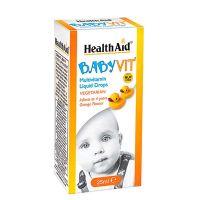 Health Aid Baby Vit Πολυβιταμίνη σε Σταγόνες με γεύση Πορτοκάλι 0-4 χρονών 25ml