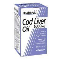 Health Aid Cod Liver Oil 1000mg 30 κάψουλες