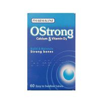 Hot Deal Pharmaline OStrong Calcium & Vitamin D 60 easy to swallow tablets 1+1 Free